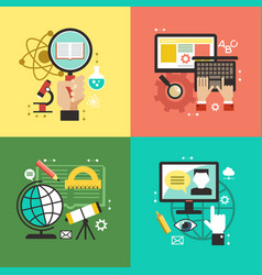 flat education vector image