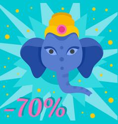 ganesh chaturthi sale background flat style vector image