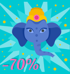 Ganesh chaturthi sale background flat style vector