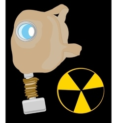 Gas mask and sign radiation vector