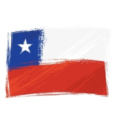 grunge Chile flag vector image