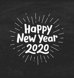 Happy new year 2020 typography vector