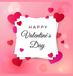 happy valentines day and wedding design elements vector image