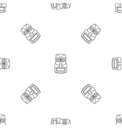 hawaii idol statue pattern seamless vector image