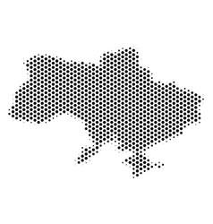 Hexagonal ukraine map with crimea vector