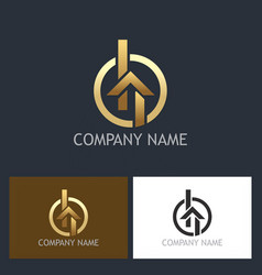 Home gold realty logo vector