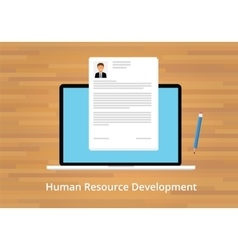 Hr human resource development vector