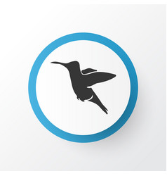 hummingbird icon symbol premium quality isolated vector image