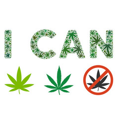 I can label composition of cannabis vector