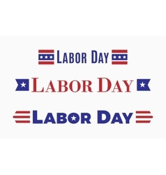Labor day holiday in united states america vector
