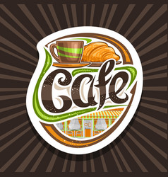 logo for street cafe vector image