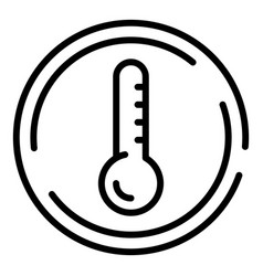 Low temperature fabric icon outline style vector
