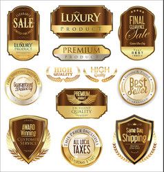 Luxury retro badge and labels collection 6 vector