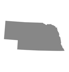 Map of the us state of nebraska vector