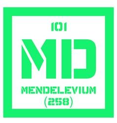 Mendelevium chemical element vector image