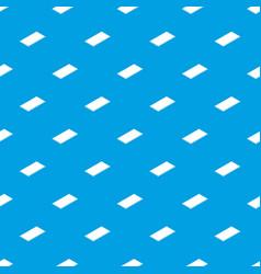 metal panel pattern seamless blue vector image