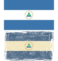 Nicaraguan grunge flag Grunge effect can be vector