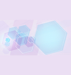 pink blue scientific background vector image