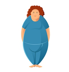 Plump woman vector image