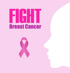 poster empowering women to fight breast cancer vector image