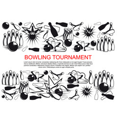 Poster for bowling tournament vector