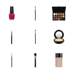 Realistic make-up product concealer varnish and vector