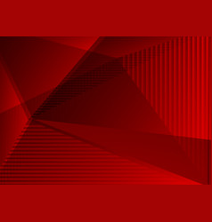 red color abstract geometric background modern vector image
