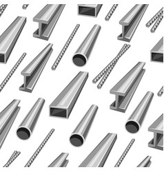 rolled metal products seamless pattern vector image