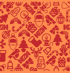 Seamless modern christmas background pattern vector