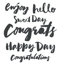 Set congratulatory inscriptions vector image