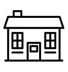 Small cottage icon outline style vector