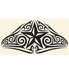 star tattoo design vector image