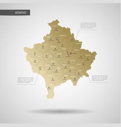 stylized kosovo map vector image