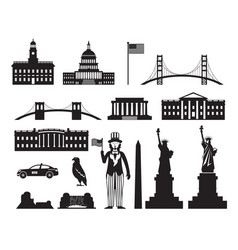 united states america usa objects silhouette vector image