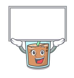Up board bubble tea character cartoon vector