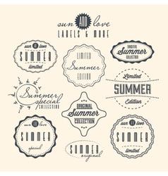 Vintage Summer Sale Labels vector