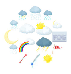 Weather set icons vector