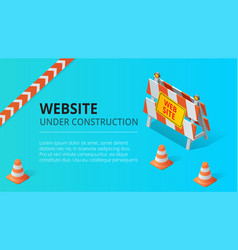 Website under construction page background vector