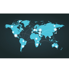 World Map Connection vector image
