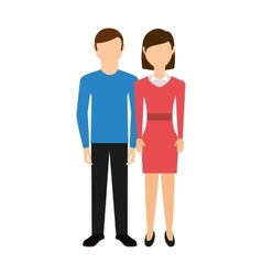 Young couple happy icon vector