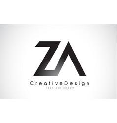 Za z a letter logo design creative icon modern vector