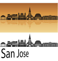 san jose skyline vector image vector image