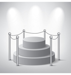 White podium on grey background vector image vector image