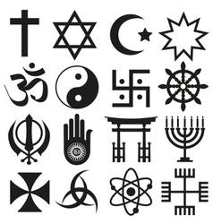 world religions symbols set of icons eps10 vector image