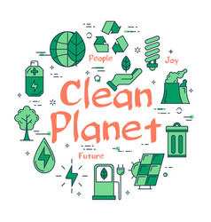 green clean planet concept vector image