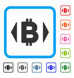 regulate bitcoin price framed icon vector image vector image