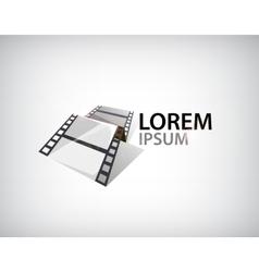 3d film strip tape logo vector