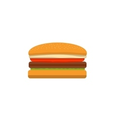 Big tasty cheeseburger on a white background vector image