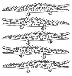 funny crawling crocodile - vector image vector image