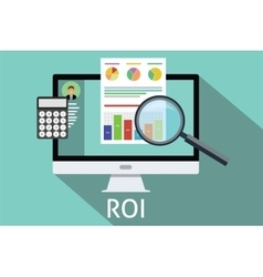 roi return on investment vector image